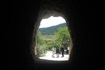 Final del segundo túnel.
