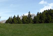 Pico de Casamanya desde el collado del Estall.