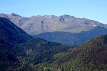 Vista hacia el el Pirineo francés y Luishon.
