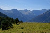 La cordillera pirenaica bajando hacia Arres de Sus.