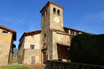 Campanario de Santa Margarida de Bianya.