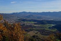 Olot y la zona volcánica de la Garrotxa.