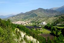 El paisaje agroforestal del valle de la Pobla de Lillet.