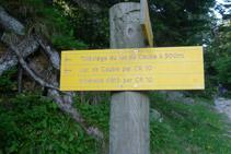 """Indicación de """"Lac de Gaube par GR 10""""."""