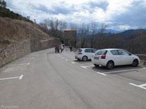 Gran aparcamiento en Castellar de n´Hug.