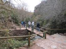 Bajando hacia el nacimiento del río Llobregat.