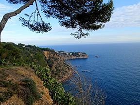 Macizo de la Ardenya desde Sant Feliu de Gu�xols