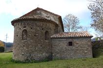 Ábside de la iglesia de Santa Maria de Les Lloses.