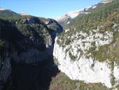 Sendero de los miradores de Revilla en las Gargantas de Escuaín