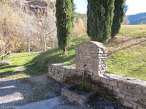 Mucha gente viene hasta la Font de la Figuereta para coger agua.