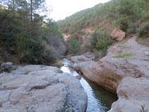 Las aguas del barranco de Sant Pere.