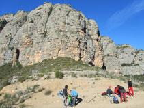 Terraza debajo de Les Moles del Pessó, desde donde vemos la vertiente de la Noguera Pallaresa.