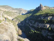 El Noguera Pallaresa al fondo del valle.