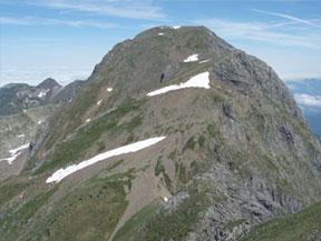 Mont Valier (2.838m) y pico de la Pala Clavera (2.721m)
