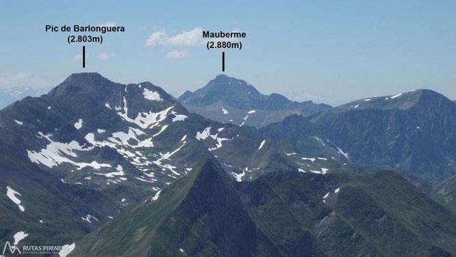 Mont Valier (2.838m) y pico de la Pala Clavera (2.721m) 1
