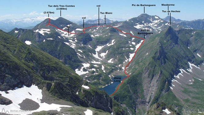 Mont Valier (2.838m) y pico de la Pala Clavera (2.721m) 2