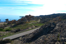 Vistas del Pla de Tudela desde el mirador.