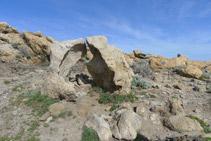 Curiosa formación rocosa.