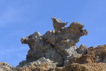 Roca conocida como S´Àliga (el Águila).