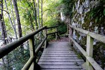 El camino cerca del río Garona.