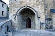 Portalada gótica de Sant Martin de Tours.