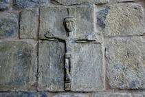 Cristo románico en la iglesia de Gausac.