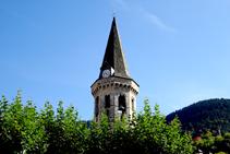 Campanario de la iglesia de Vielha.