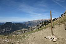 Collado del Verdet, a 2.244m de altitud.