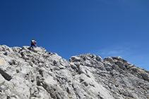 A pocos metros de la cima del Pedraforca.