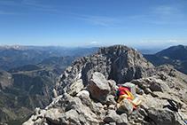 Cumbre del Pedraforca, a 2.506m de altitud.