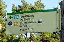 Inicio de la ruta por los bosques de Sant Joan de l´Erm.