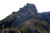 Carena que sube al castillo de Verdera y cima de Sant Salvador (fuera de ruta).