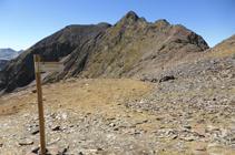 Enlace con el GR, cerca de la Portella de Baiau.