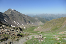 El valle de Sorteny y el pico del Estanyó desde el collado de Meners.