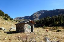Cabaña y Pleta de la Serrera.