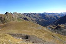Panorámica de la cabecera del valle de Ransol, desde la collada de los Meners.