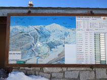 Panel con las pistas de esquí de Mijanes.