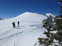 Última rampa antes de coronar el pico de Monpudou.