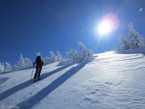 Últimas rampas para llegar a la cima del pico de la Coumeille de L´Ours.