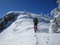 Últimos metros de subida antes de alcanzar el pico de la Coumeille de L´Ours.