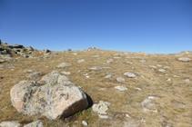 Llegando a la cima del pico de Montmalús.