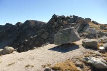 Bloques de granito en la cota 2.721m.