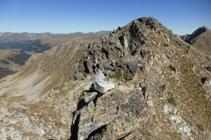 Llegando al pico de la Portella de Joan Antoni.