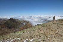 La cima del pico del Montcalm es totalmente llano.