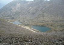 Vista de los tres lagos de Angonella.