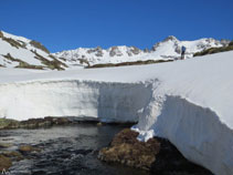 Durante el invierno la nieve es muy abundante en esta zona.