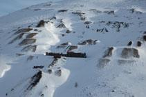 Instalaciones abandonadas de las antiguas minas de Puymorens.