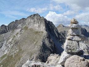 Pico de Peguera (2.983m) y pico de Monestero (2.877m)