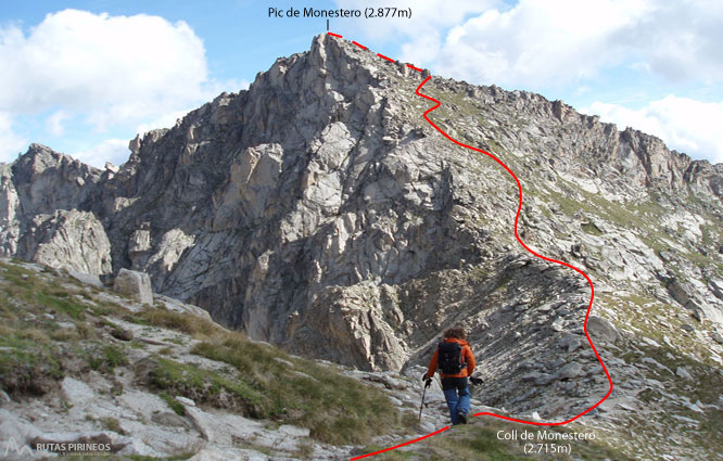 Pico de Peguera (2.983m) y pico de Monestero (2.877m) 2