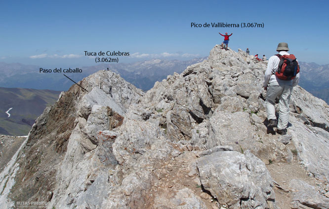 Vallibierna (3.067m) y Culebras (3.062m) por Llauset 1